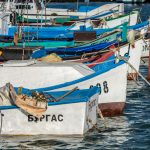 Fishing port in Sarafovo